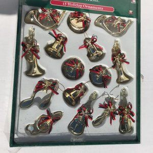 Musical Note and Instruments Christmas Ornaments
